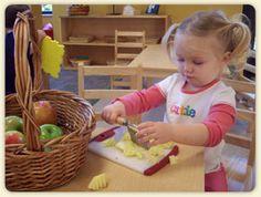 Montessori toddler food prep