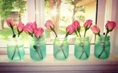DIY sea glass jars