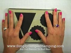 """Great tip (video) for your Big Shot dies so you can see where your """"cutting area""""is.  www.SimplySimpleStamping.com"""