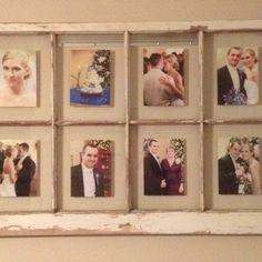 Wedding photo display