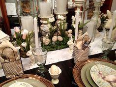 easter tablescap, easter set, easterspr, easter decor, wire baskets, easter creativ, spring, holiday decor, tabl set