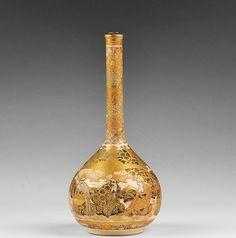 19th century Satsuma stoppered bottle