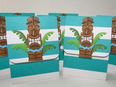 8 Tiki Party Favor Box, Note Card Box. $6.00, via Etsy.
