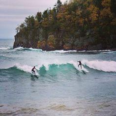 Surfing Lake Superio
