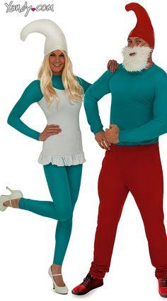 Sexy Blue Gnome Couples Costume