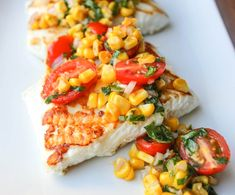 Grilled Halibut with Cherry Tomato and Corn Salsa and other delicious Memorial Day Grilling Recipes!