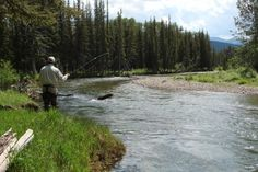Fly fishing on Burnt Leather Ranch. http://fayranches.com/ranches-for-sale/montana/burnt-leather-ranch-steen-place-headquarters