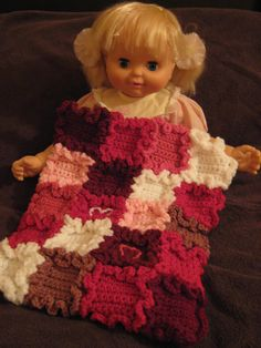 girl doll, free pattern, crochet, doll blanket, heart doll, blanket patterns, american girl, blankets, tini heart