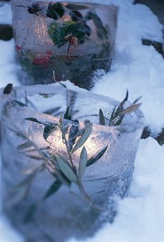 Ice lights holiday, parties, candle holders, snow, candles, christmas, lanterns, winter weddings, tea lights