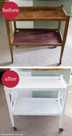 tea trolley makeover