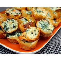 Spanakopita Bites  #Christmas #Appetizers I'm making these! I had similar at Mikono's and they were great!
