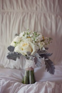 bouquet with dusty miller
