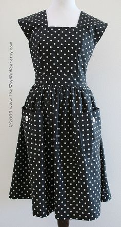 1940S Dress Patterns Free   1940's Pinafore Dress - Vintage Reproduction FRONT VIEW   Flickr ...
