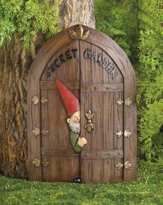 Secret Garden Gnome  ...super cute .. one day I plan to let my kids have one of the garden beds , this would be awesome to put on it ...