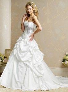 white poofy wedding dress