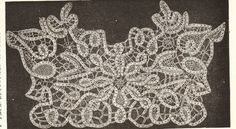 Instructions for making point lace early 1900s pdf.pattern available via Etsy.
