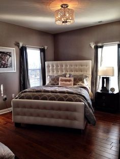 Our West Street Bed adds lush sophistication to Facebook fan Perla Dizon's bedroom.