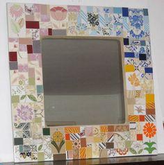 Linda composição de estampas criando um patchwork de azulejos antigos , trabalho moderno com um ar retro, fazendo um degrade de cores.  Base em MDF, a borda pode variar de acordo com o tamanho e a preferencia do cliente.  Feito sob encomenda . R$ 300,00
