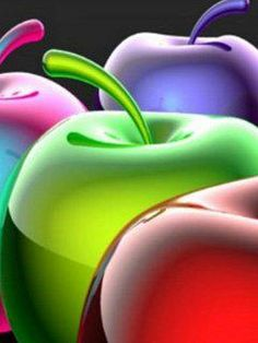 Apples in colours