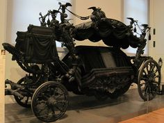 Royal Horse Drawn Hearse: The Black Hearse, built in 1876/7.