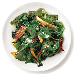 Quick Caramelized Onions Swiss Chard:  Looked nothing like this -- but was surprisingly good!  Buttery and sweet.