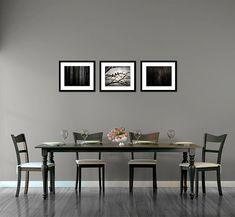 Etsy shop BeneathNorthernSkies uses the Photographer's Wall Display Guides to show her beautiful fine art prints in the dining room template.