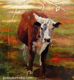 great cow painting