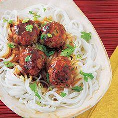 Asian Turkey Meatballs | MyRecipes.com