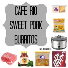 Cafe Rio Sweet Pork- My recipe is a little different than this one, but this one might be worth a try as well. dr. pepper might taste different than cola?