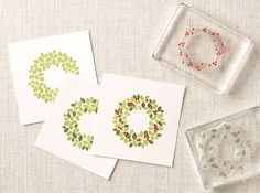 Make a real impression in three simple stamps with the Wondrous Wreath stamp set.