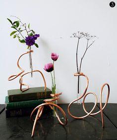 #DIY Copper Coil Vases