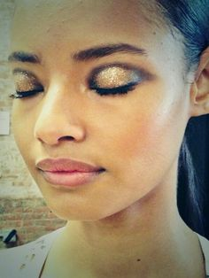 The beautiful sparkly eyes Diane Kendal dreamed up for Jason Wu.
