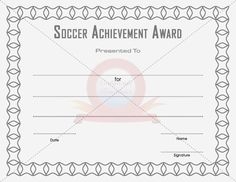 free soccer certificate templates .