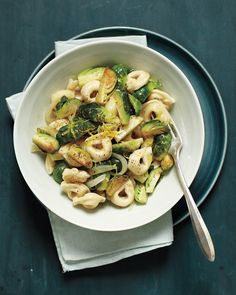 Tortellini with Lemon and Brussels Sprouts Recipe -- ready to eat in just 25 minutes!