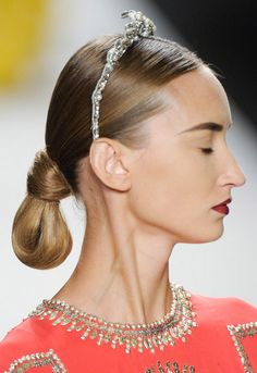 Wrapped Low Bun  Hair Style Trend for Spring Summer 2013.  Naeem Khan Spring Summer 2013.     #hair  #trends