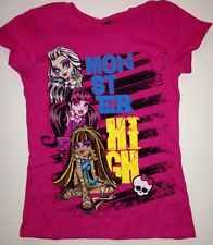 MONSTER HIGH GIRLS Size 7/8 Medium Shirt New With Tags New Style