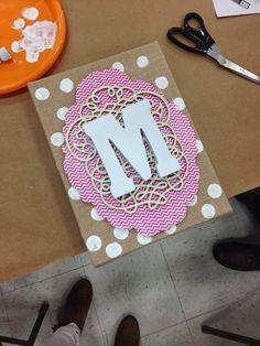 Crafting With Monograms wall art, craft biz, monogram