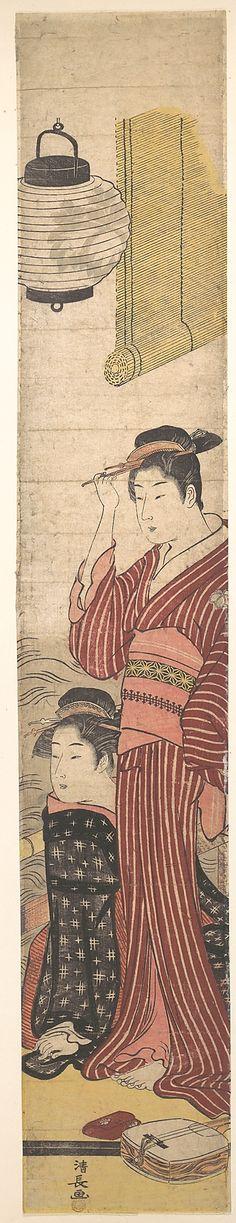 Torii Kiyonaga  (1742–1815)  Period: Edo (1600–1868) - Woodblock print; ink and colour on paper