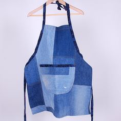 Man Apron in Recycled Denim