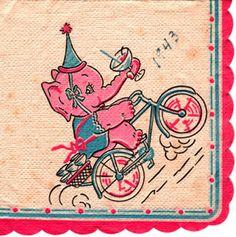 I LOOOOOVE this one! eleph napkin, year napkin