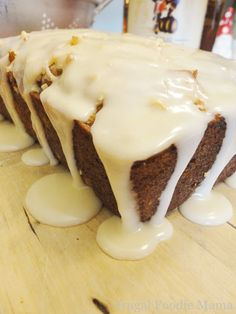 Pina Colada Banana Bread with a Buttered Rum Glaze via Frugal Foodie Mama: The Glaze is Phenomenal!  Just reading the recipe is making my mouth water!