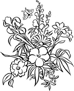 Free Printable Adult Coloring Pages - Flower Coloring Pages