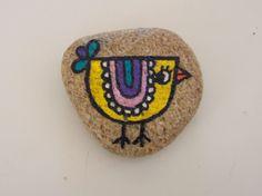 Galet oiseau peint à la main, décoration intérieure : Accessoires de maison par l-atelier-de-lefki