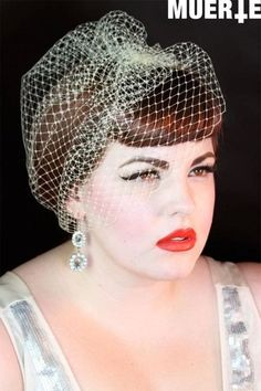 Pale Yellow Birdcage veil  by VintageBox1947 on Etsy, $23.99