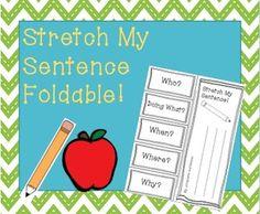 Stretch My Sentence Foldable!