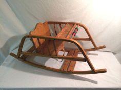 Antique Vintage Wood Baby Rocking Chair Activity Center | eBay