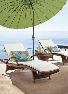 Lounge away this summer in these beautiful modern chairs from Frontgate.