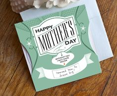 6 unique and free printable mothers day cards.