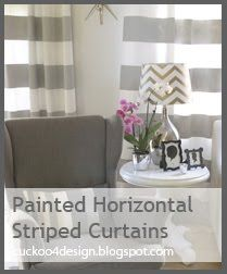 DIY Crate & Barrel striped curtains