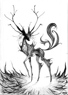 spirit of the wild ink monster by ~Peter709